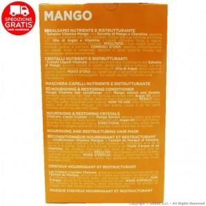 VITALCARE MANGO VITAMINS : BALSAMO 250ml + CRISTALLI NUTRIENTI E RISTRUTTURANTI + MASCHERA   COFANETTO IDEA REGALO 18,65€