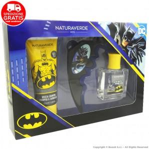 BATMAN DC COMICS COFANETTO REGALO : DOCCIA SHAMPOO 100ml + PROFUMO SUPER EROE 50ml + BAT BOOMERANG 17,32€