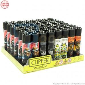 ACCENDINI CLIPPER HIP HOP RAPPER LEGENDS PREMIUM LIMITED EDITION   BOX DA 48 PEZZI LARGE E RICARICABILI 45,99€