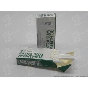 CLIPPER FILTRI SPUGNA RUVIDI 5,5MM EXTRA SLIM AL MENTOLO - BOX DA 20 ASTUCCI DA 120 FILTRINI 15,67€