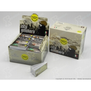 FILTRI IN CARTA MAD4 CITY SMOKERS - 1 BLOCCHETTO DA 33 FOGLI 0,18 €