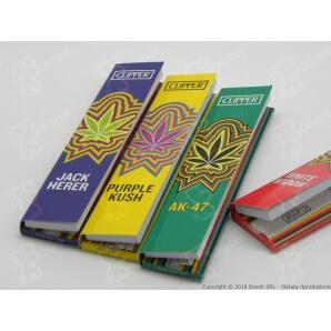 CLIPPER CARTINE LUNGHE KSS + FILTRI IN CARTA SIMPLE WEED TEAM KSS - BOX DA 20 LIBRETTI 20,59€