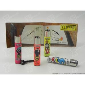 CLIPPER LARGE CIUCCIO - BOX DA 48 ACCENDINI A PIETRINA CON SISTEMA DI PRESSATURA DEL TABACCO 28,99€