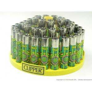 CLIPPER LARGE PSY COOL LEAVES - BOX DA 48 ACCENDINI A PIETRINA RICARICABILI CON SISTEMA DI PRESSATURA DEL TABACCO 28,99€