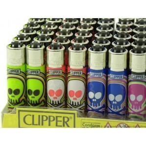 CLIPPER ACCENDINI MICRO SKULLS CANDY - BOX DA 48 ACCENDINI A PIETRINA CON SISTEMA DI PRESSATURA DEL TABACCO 28,99€