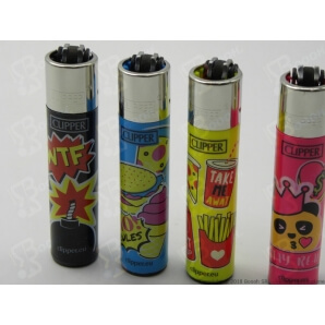 CLIPPER LARGE FUNNY PINS - 4 ACCENDINI SFUSI 2,69 €