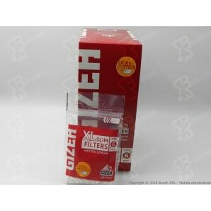 GIZEH FILTRI XL LONG CON STRISCIA GOMMATA SLIM 6MM - 1 BUSTINA DA 100 FILTRI 0,77€
