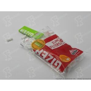 GIZEH FILTRI SLIM 6MM + CARTINA CORTA GIZEH SUPER FINE OMAGGIO - 1 BUSTINA DA 120 FILTRI 0,79€