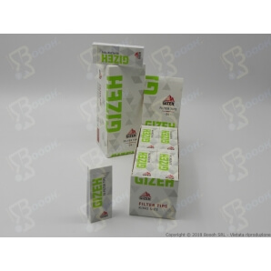 GIZEH FILTRI IN CARTA KING SIZE - 1 BLOCCHETTO DA 35 FOGLI GRANDI 0,39€