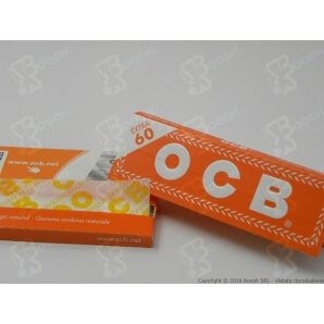 OCB CARTINE CORTE SINGOLE ORANGE - 1 LIBRETTO DA 60 CARTINE 0,23€