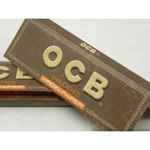 CARTINE OCB VIRGIN BROWN SENZA CLORO CORTE SINGOLE - LIBRETTO SINGOLO 0,35€