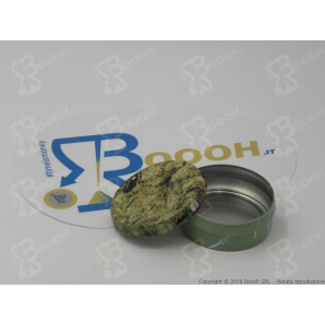 SCATOLA CLICK-CLACK ((Ø 5,5 CM) BUD - 1 BARATTOLO PORTAINFIORESCENZE DI CANAPA O TABACCO 2,39€