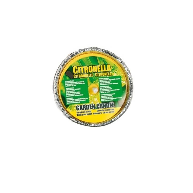 CANDELA CITRONELLA IN VASCHETTA DI ALLUMINIO - DIAMETRO 10 CM 1,39€