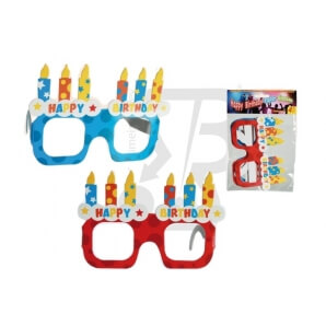 OCCHIALI IN CARTA ROSSI E BLU - SET PER FESTE E PARTY 1,69 €