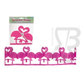 Accessori per Feste e Party GHIRLANDA IN CARTA FENICOTTERO LUNGHEZZA 2m - 1 STRISCIONE 1,59 €
