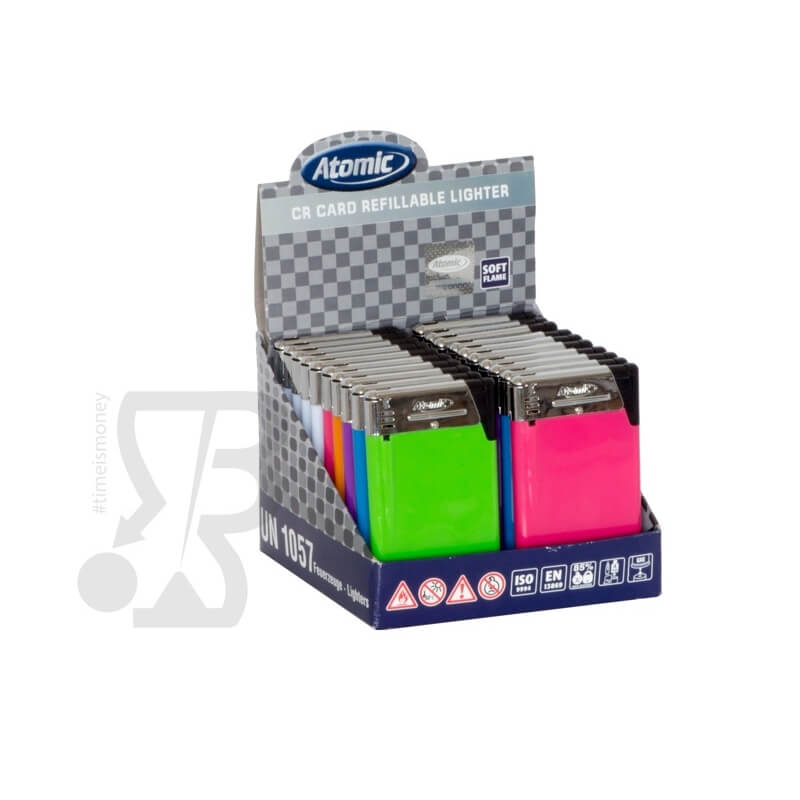 ATOMIC ACCENDINI CLASSICI CARD ''SOTTILISSIMI'' 0,5CM COLORI ASSORTITI - 1 BOX 20 ACCENDINI 14,99 €
