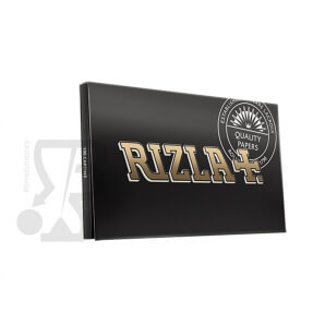 Libretti Sfusi RIZLA CARTINA NERA DOPPIA BLACK DOUBLE - 1 LIBRETTO DA 100 CARTINE 0,69 €