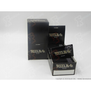 RIZLA CARTINA NERA DOPPIA BLACK DOUBLE CORTA - CONFEZIONE DA 25 LIBRETTI DA 100 CARTINE 10,99€