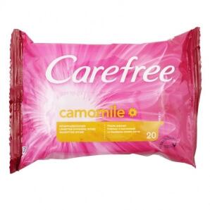 CAREFREE SALVIETTE DETERGENTI INTIME LENITIVE ALLA CAMOMILLA - 1 CONFEZIONE DA 20 SALVIETTINE 1,49€
