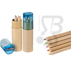 MATITE COLORATE CON TEMPERINO - SET DA 5 PZ IN TUBO DI CARTA 0,99 €