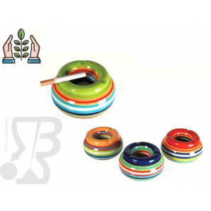 POSACENERE IN CERAMICA ANTIVENTO STRIPES, 11x 6 cm 3,50 €