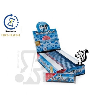 CARTINE CORTE SKUNK BRAND AROMA MIRTILLO - BOX 24 LIBRETTI 1¼ BLUEBERRY