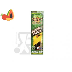 CARTINE LUNGHE PURA CANAPA JUICY JAY'S HEMP WRAPS BLUNT MANIC AROMATIZZATE MANGO PAPAYA - 1 BLISTER DA 2 CARTINE 2,24 €