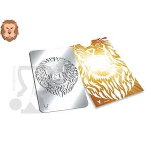 GRINDER CARD TRITATABACCO METALLICO A FORMA DI TESSERA, GRAFICA LEONE 4,48€