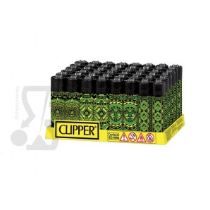 CLIPPER LARGE AZTECA LEAVES - BOX DA 48 ACCENDINI 28,99€