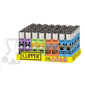 CLIPPER LARGE ANGRY CATS - BOX DA 48 ACCENDINI 28,99 €