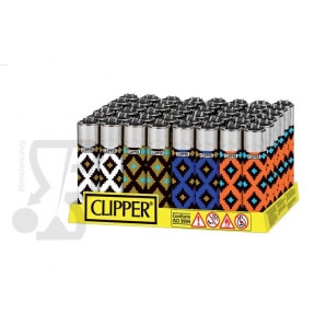 CLIPPER LARGE GEOMETRIC PRINT - BOX DA 48 ACCENDINI 28,99 €