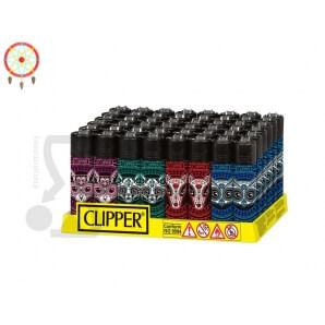 CLIPPER LARGE CLASSIC MUERTA ANIMALS - BOX DA 48 ACCENDINI A PIETRINA RICARICABILI CON SISTEMA DI PRESSATURA INTEGRATO 39,99€