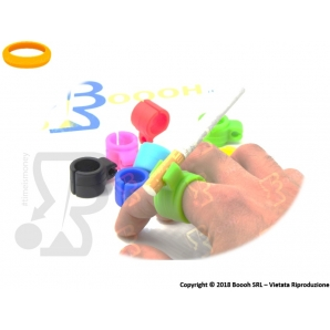 SMOKEEY RING ANELLO PORTASIGARETTE IN SILICONE IDEA REGALO - COLORI ASSORTITI 3,49 €