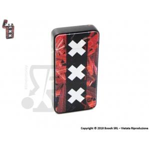 ACCENDINO NOVI CON FIAMMA ANTIVENTO AL PLASMA E-FLAME, RICARICABILE USB - FANTASIA AMSTERDAM XXX IDEA REGALO FUMATORE 48,99€