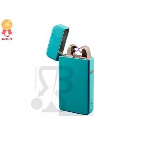 ACCENDINO NOVI CON FIAMMA ANTIVENTO AL PLASMA E-FLAME, RICARICABILE USB IDEA REGALO - COLORE AZZURRO MAT TORQOISE 46,99€