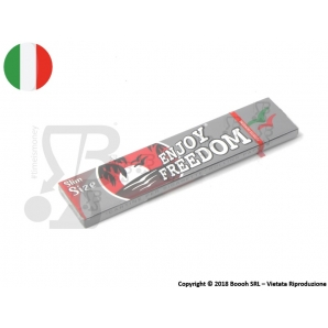 CARTINE ENJOY FREEDOM SILVER LUNGHE KING SIZE SLIM - 1 LIBRETTO 0,45 €