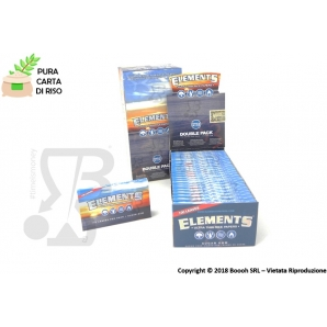 CARTINE CORTE ELEMENTS DOPPIE BLU IN CARTA DI RISO - LIBRETTO DOUBLE SINGLE WIDE 0,69 €