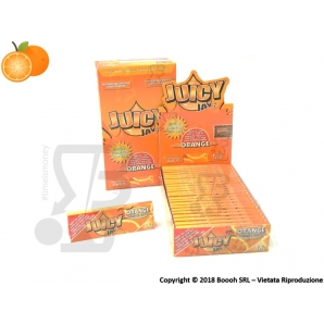 CARTINE CORTE IN CANAPA JUICY JAY'S 1¼ AROMA ARANCIA - BOX 24 LIBRETTI ORANGE 28,99 €