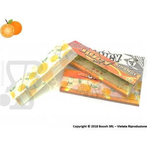 CARTINE CORTE IN CANAPA JUICY JAY'S 1¼ AROMA ARANCIA - BOX 24 LIBRETTI ORANGE 38,39 €