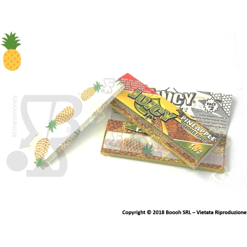 CARTINE CORTE JUICY JAY'S 1¼ AROMA ANANAS - PINEAPPLE - LIBRETTO SINGOLO 1,59 €