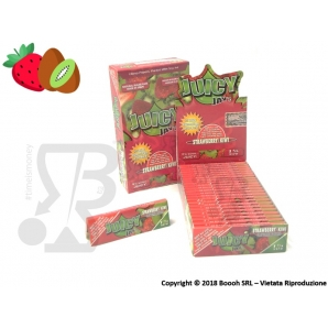 CARTINE CORTE IN PURA CANAPA JUICY JAY'S 1¼ AROMA FRAGOLA E KIWI - BOX 24 LIBRETTI 28,95 €