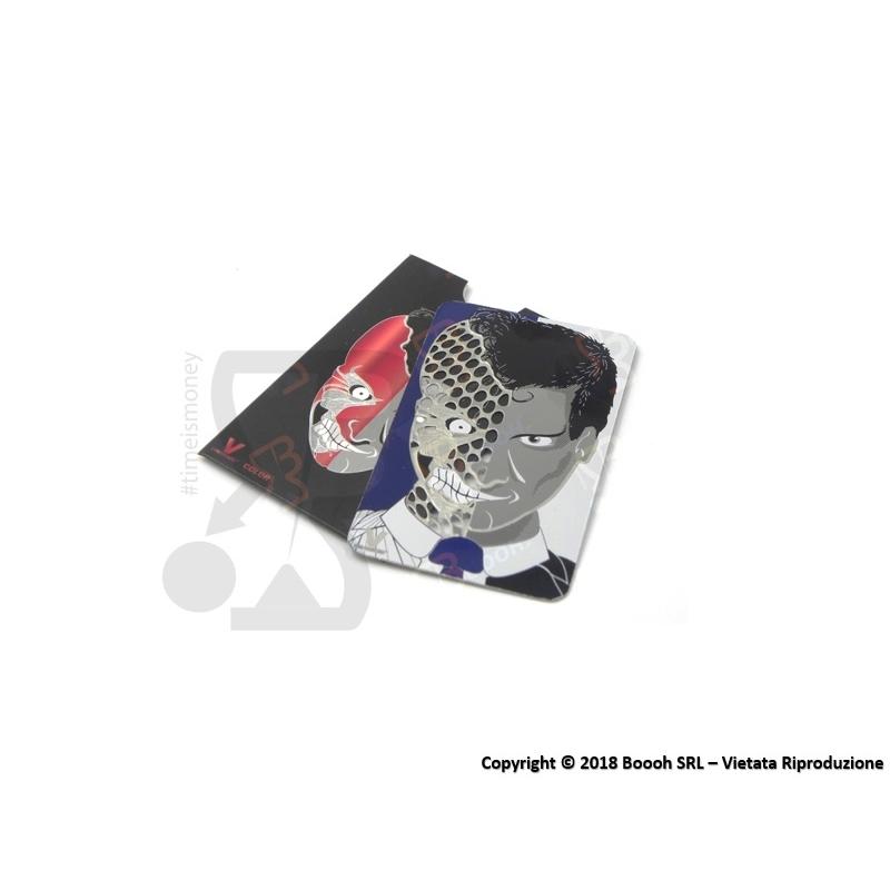 GRINDER CARD DOPPIA FACCIA TRITATABACCO - 1 TESSERA METALLICA SOTTILE 4,59€