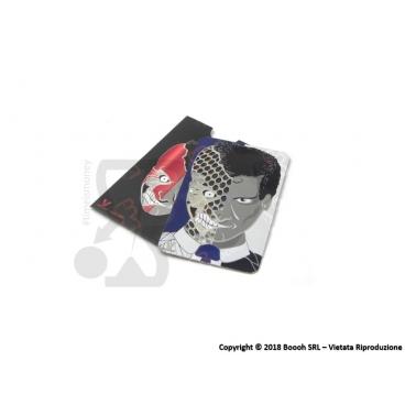 GRINDER CARD DOPPIA FACCIA TRITATABACCO - 1 TESSERA METALLICA SOTTILE