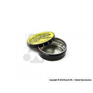 SCATOLA CLICK-CLACK (Ø 5,5 CM) DANGER BRAIN - 1 BARATTOLO PORTA INFIORESCENZE DI CANAPA O TABACCO 2,29€