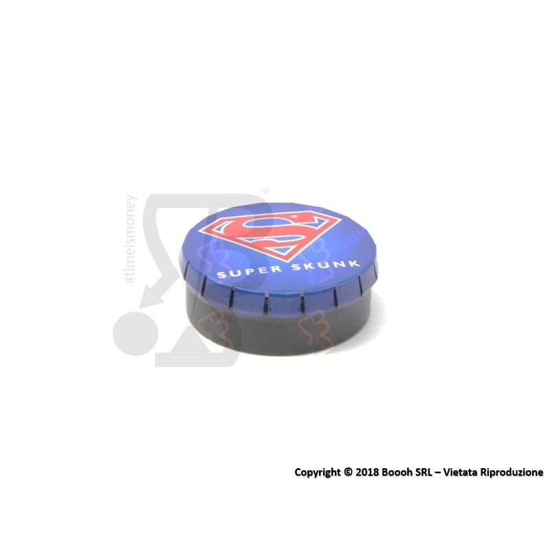 SCATOLA CLICK-CLACK (Ø 5,5 CM) SUPER SKUNK - 1 BARATTOLO PORTA INFIORESCENZE DI CANAPA O TABACCO 2,19€
