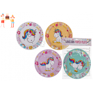 PIATTI PER FESTE E PARTY IN CARTA- FANTASIA UNICORNO, 8 PEZZI 2,99 €