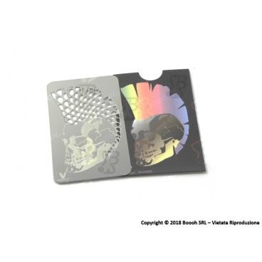 GRINDER CARD TESCHIO TRITATABACCO METALLICO - 1 TESSERA