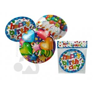 PIATTI DI CARTA PER FESTE E PARTY - FANTASIA HAPPY BIRTHDAY, CONFEZIONE DA 6 PEZZI 2,49€