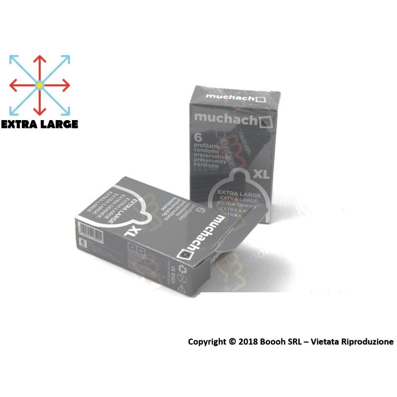 PRESERVATIVI EXTRA LARGE MUCHACHO | ASTUCCIO DA 6 PROFILATTICI XL 3,89€