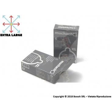 PRESERVATIVI EXTRA LARGE MUCHACHO | ASTUCCIO DA 6 PROFILATTICI XL